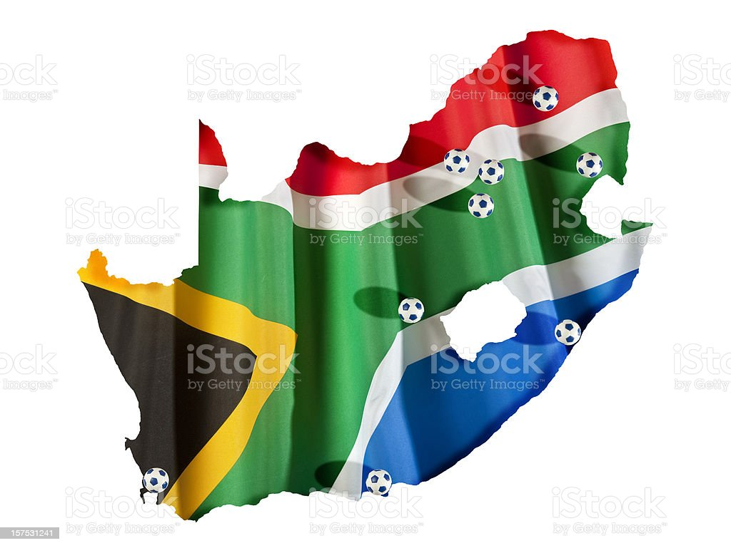 All cities of South Africa 2010 world championship royalty-free stock photo
