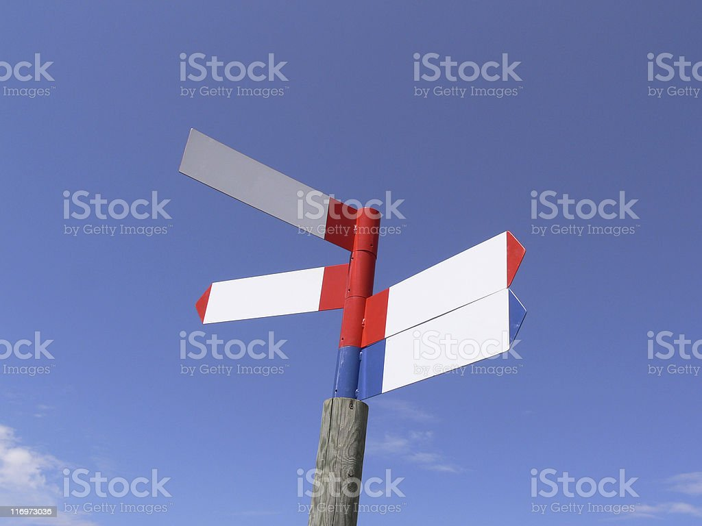 All directions stock photo