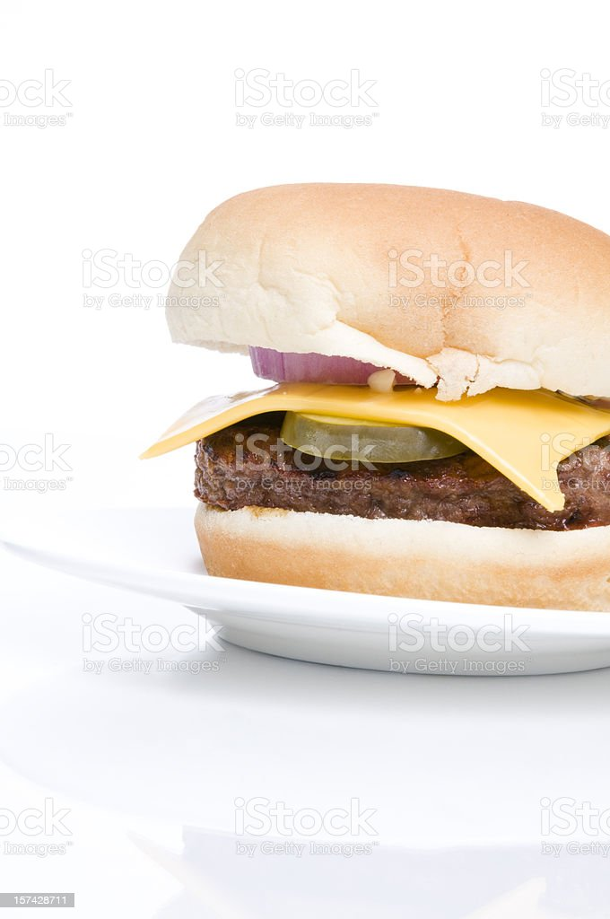 All Dressed Cheeseburger royalty-free stock photo