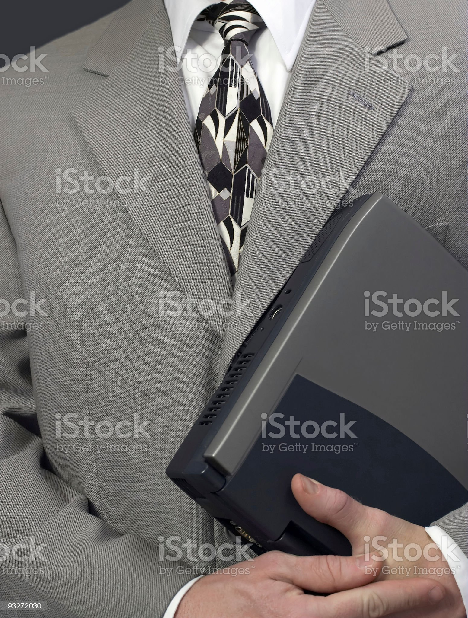All Dressed Up #2 ( Laptop & Suit ) royalty-free stock photo