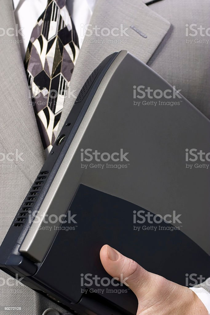 All Dressed Up #3 ( Suit & Laptop ) royalty-free stock photo