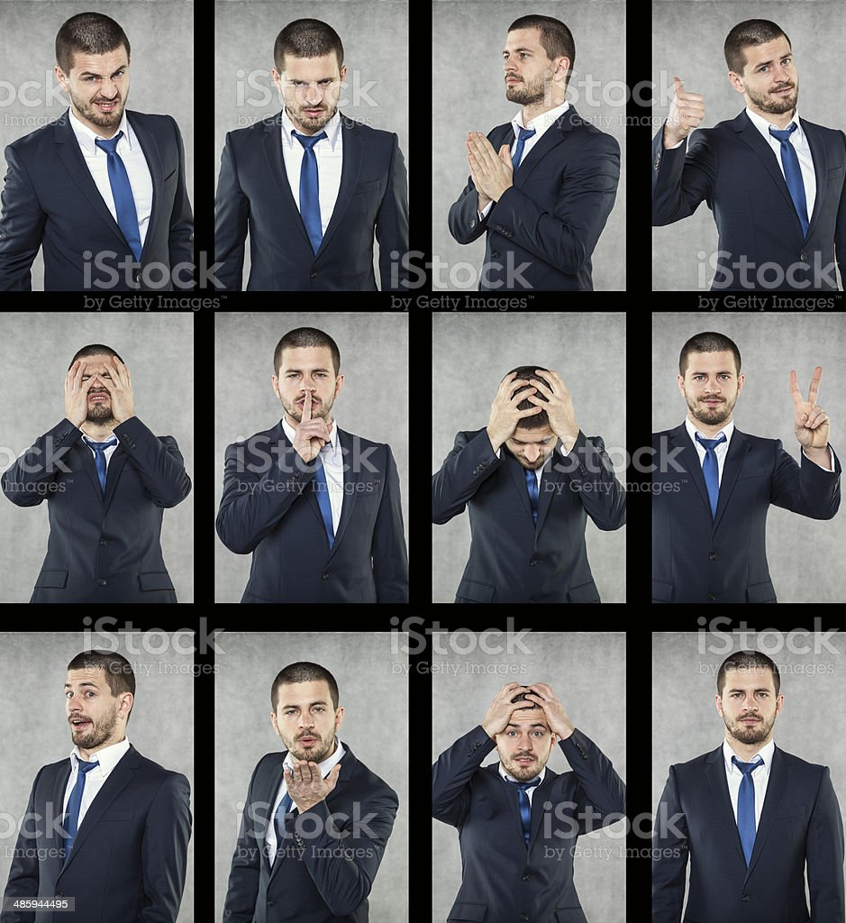 all emotions stock photo