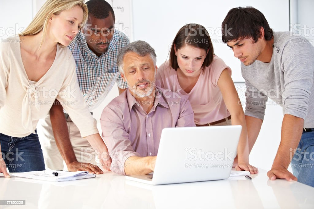 All engaged to meet the brief royalty-free stock photo