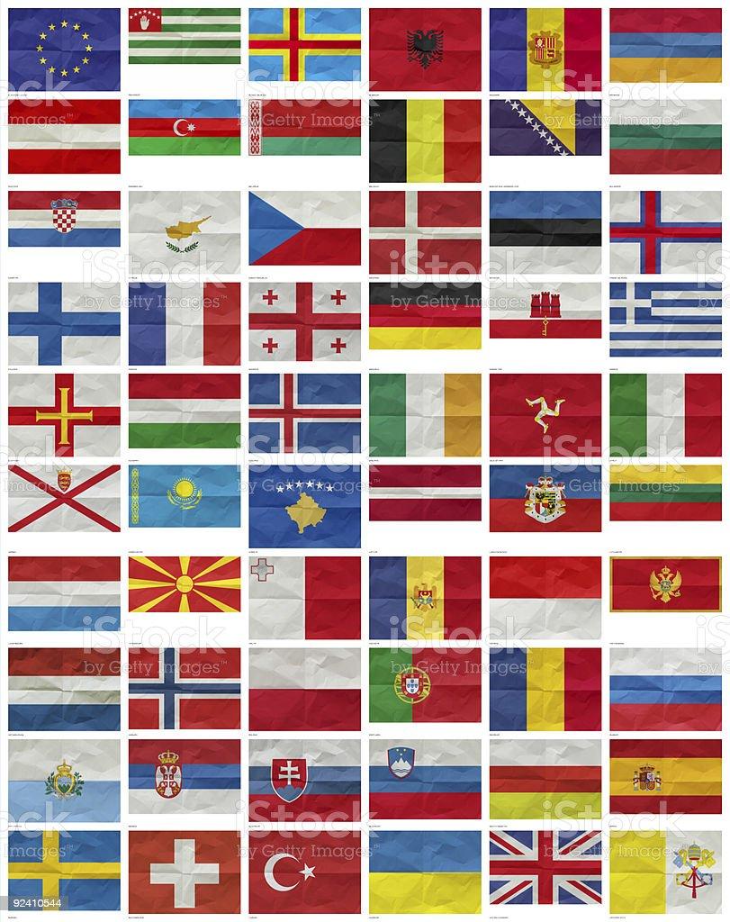 All European Flags stock photo