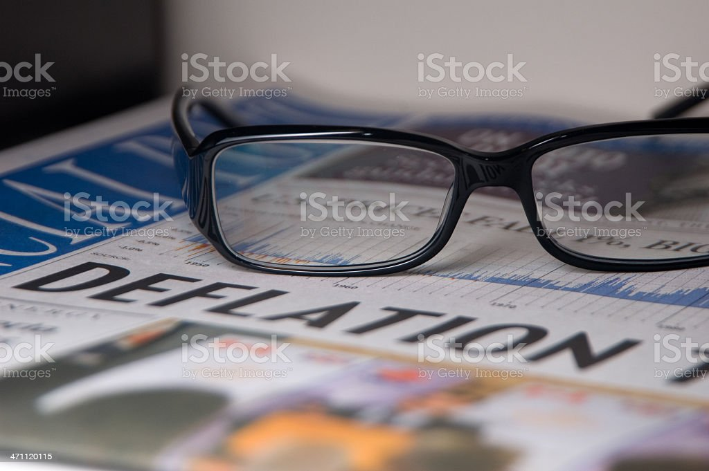 All Eyes on Financial Deflation stock photo