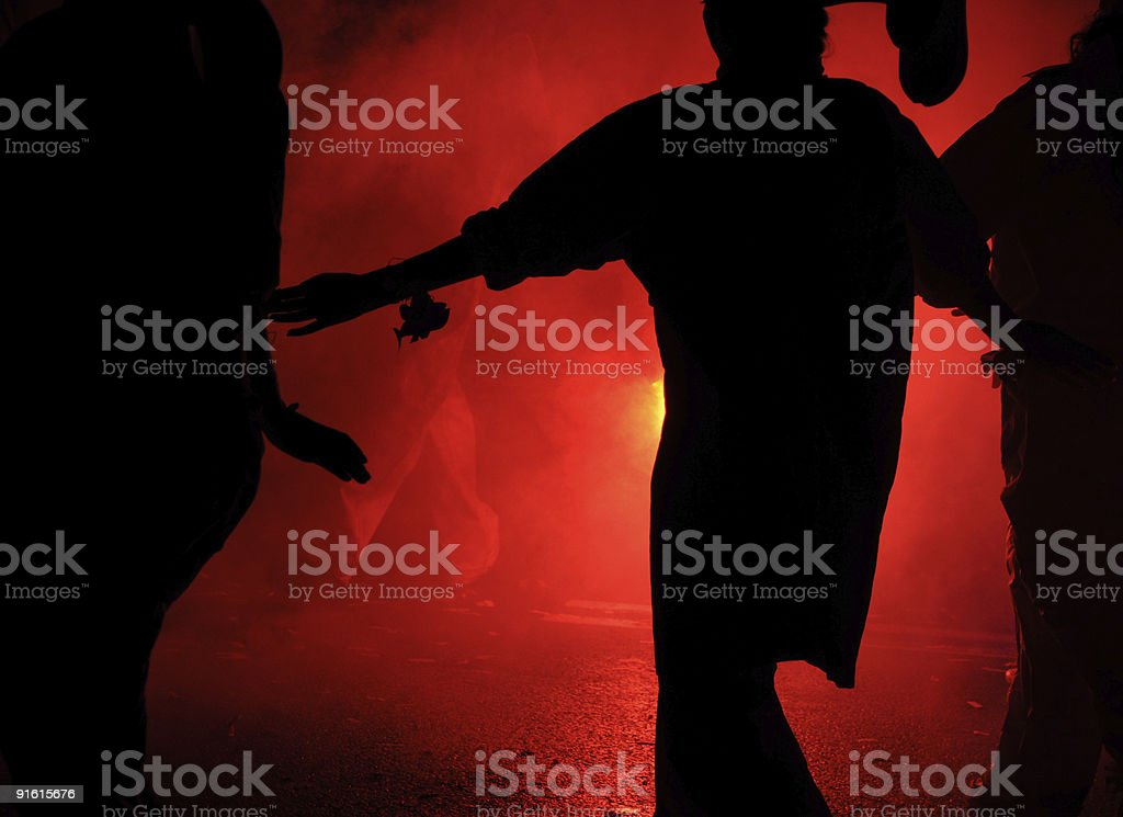 All flared-up royalty-free stock photo