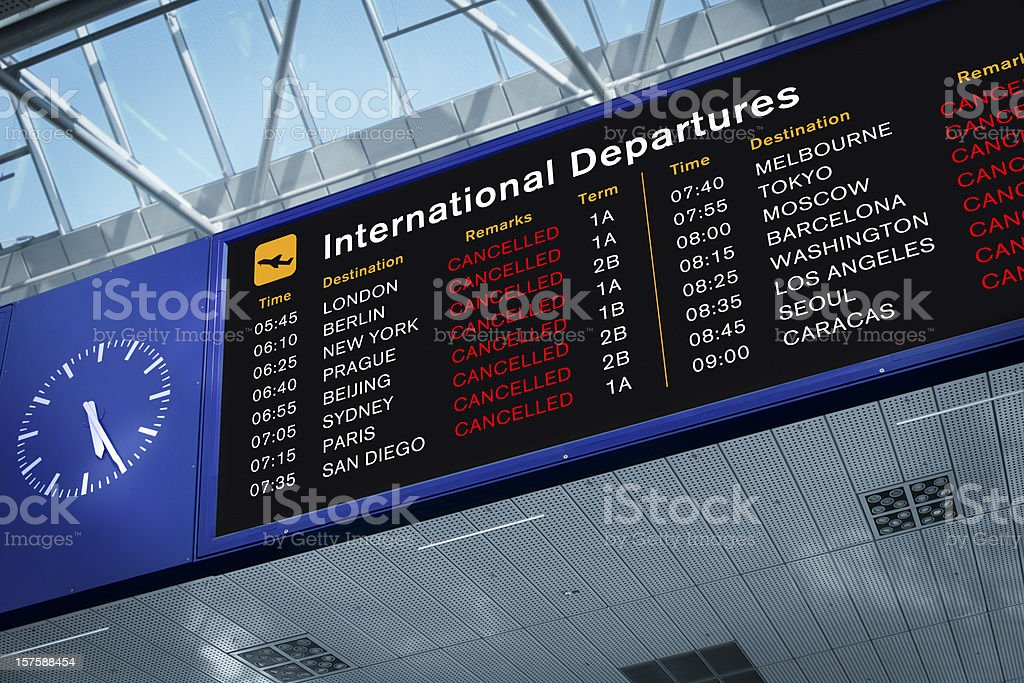All Flights Cancelled stock photo