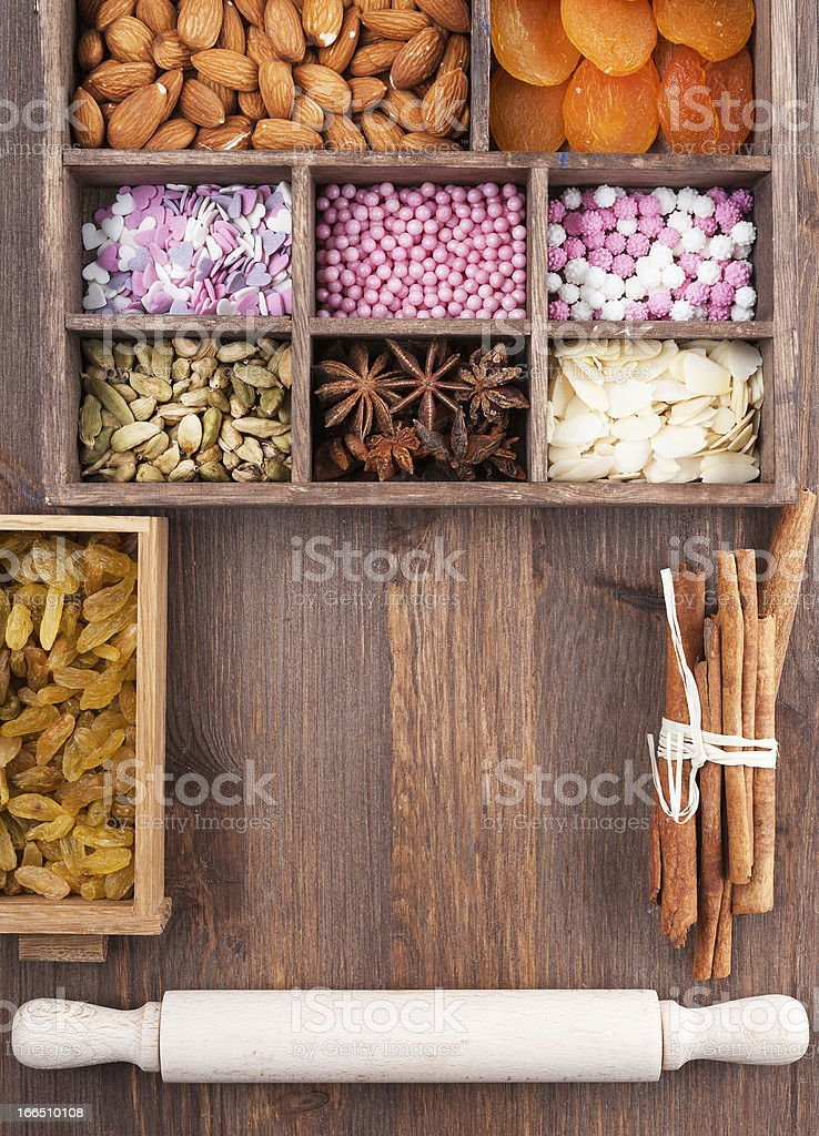 All for holiday baking royalty-free stock photo