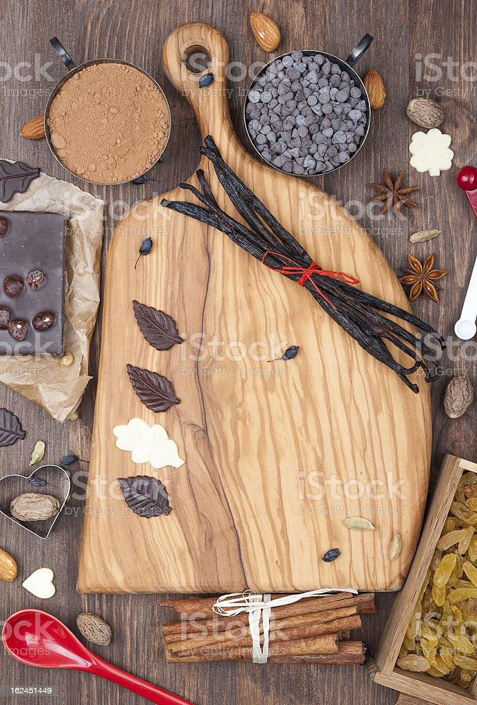 All for lovers of chocolate pastry royalty-free stock photo