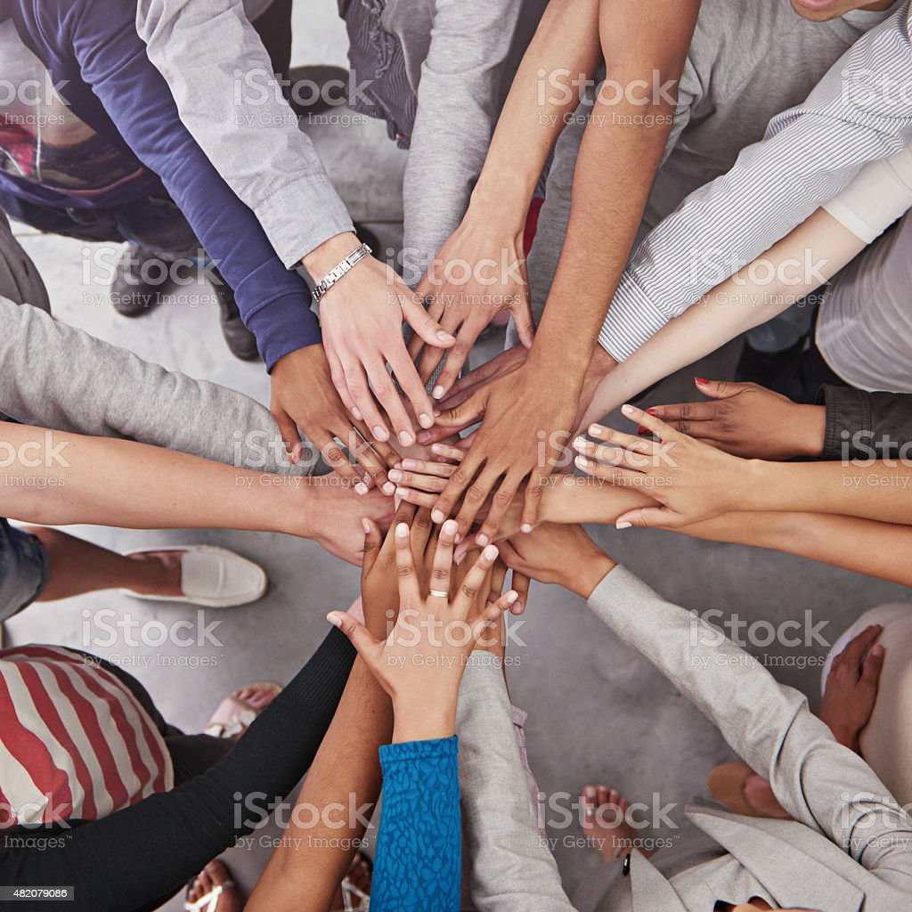 All for one and one for all! stock photo