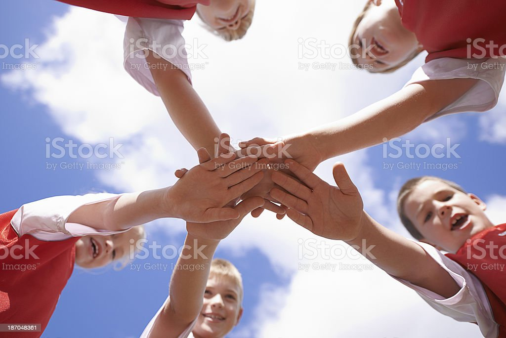 All for one stock photo