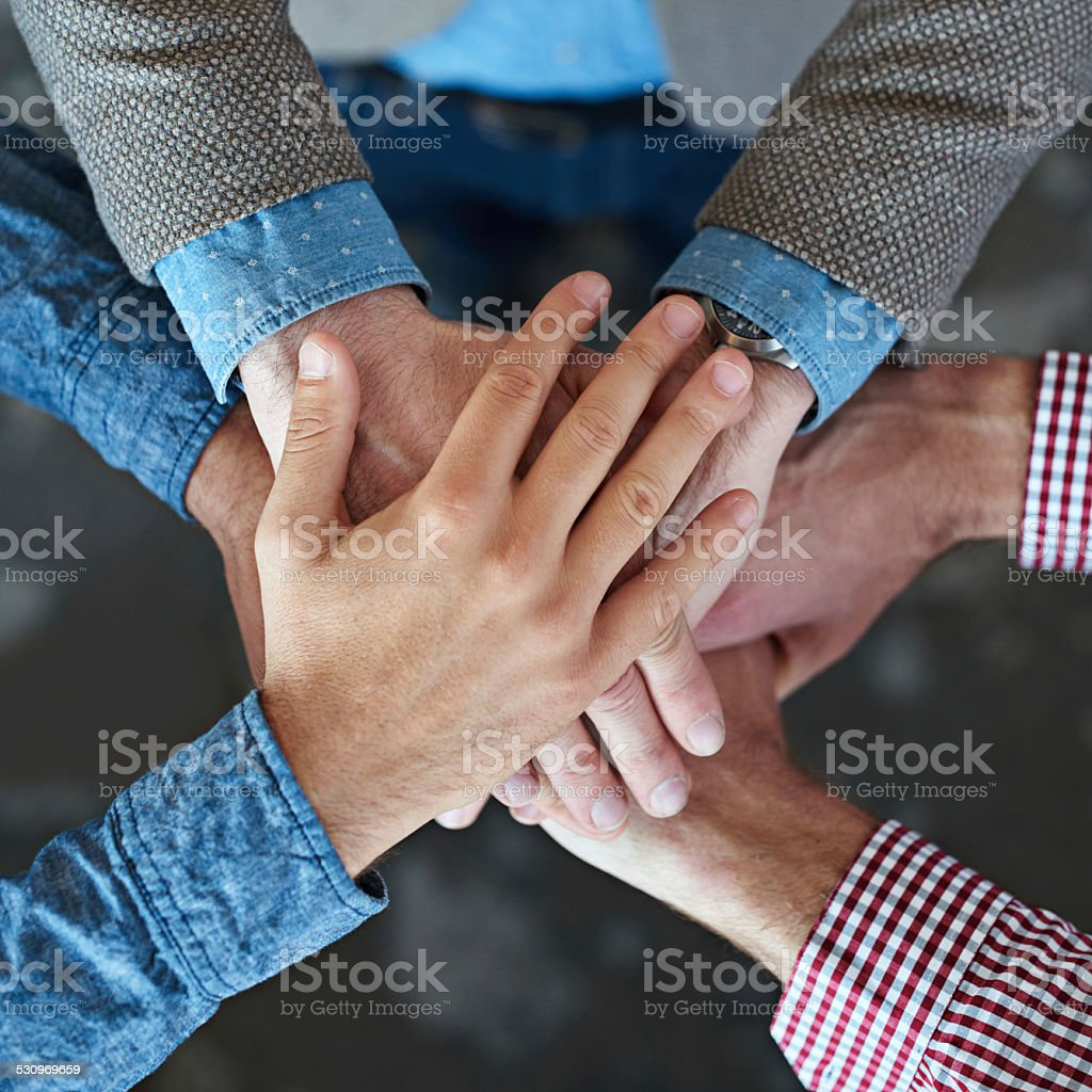All for one! stock photo