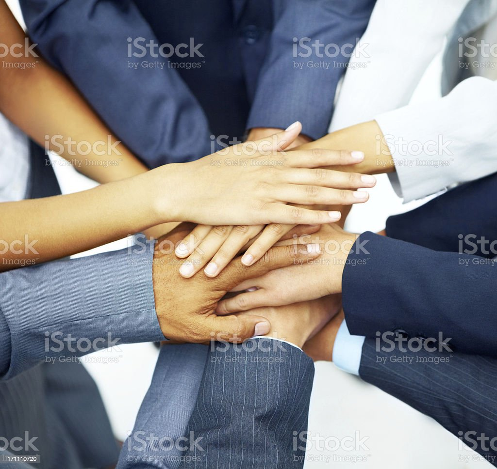 All for one - Success royalty-free stock photo