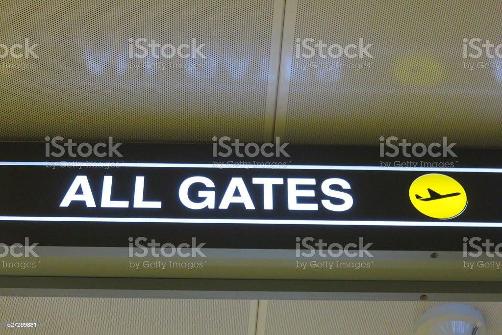 All gates stock photo