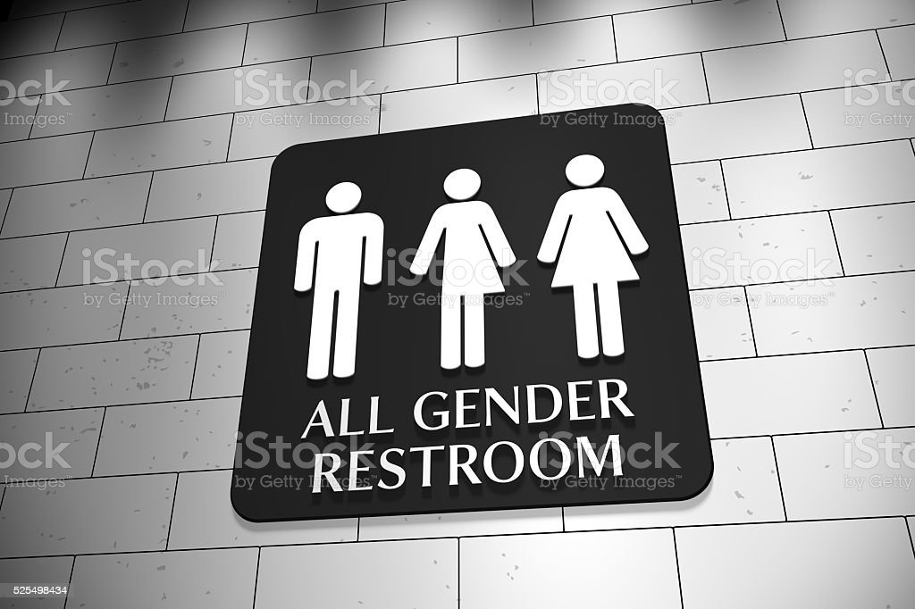 All Gender Restroom stock photo