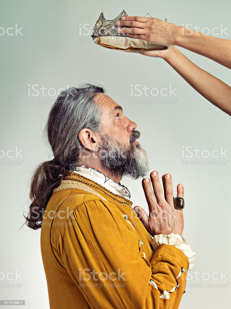All hail the King! stock photo