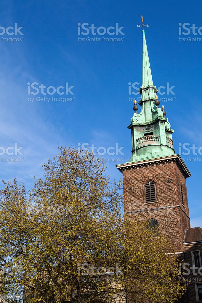 All Hallows by the Tower Church in London stock photo