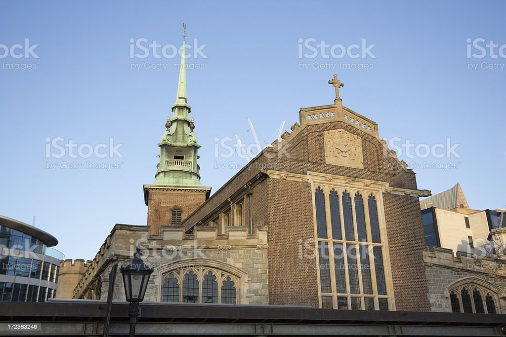 All Hallows by the Tower in London, England stock photo