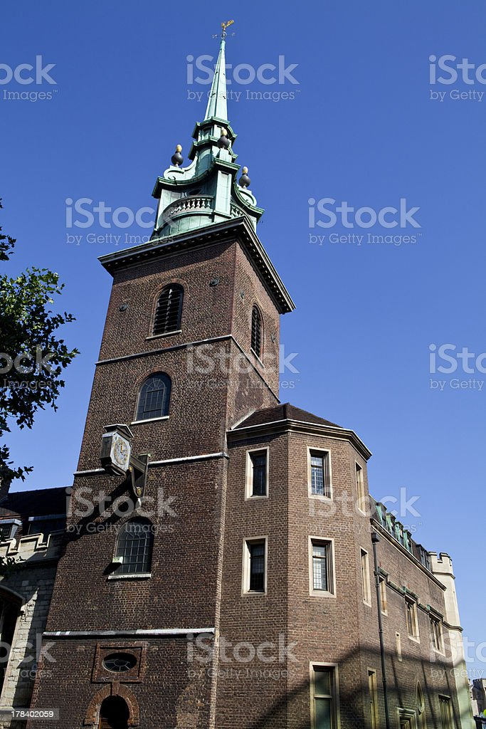 All Hallows by the Tower in London stock photo