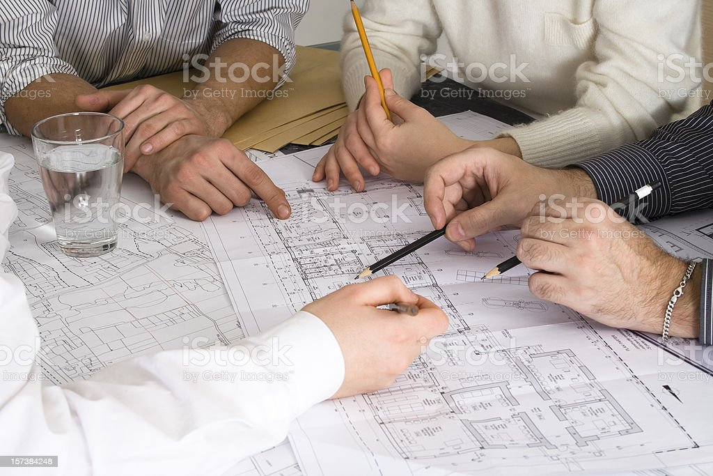 All hands to work royalty-free stock photo