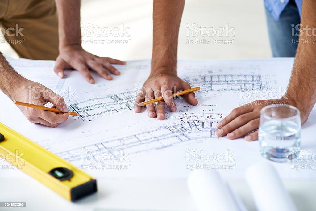 All hands to work stock photo