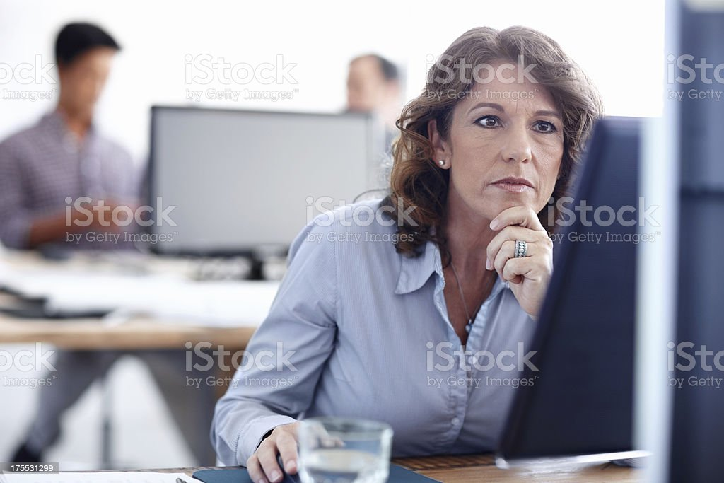 All her hard work will pay off in the end stock photo