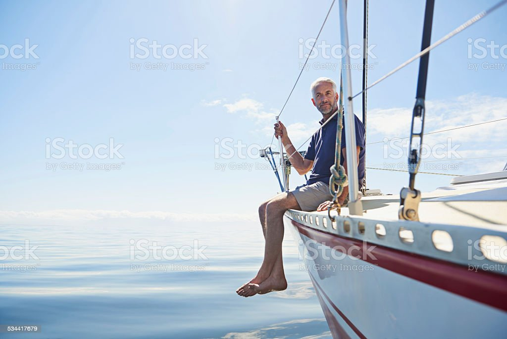 All his hard work paid off stock photo