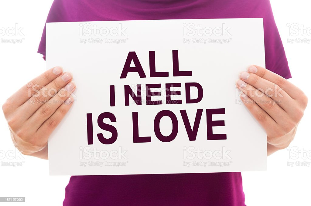 All I need is love stock photo