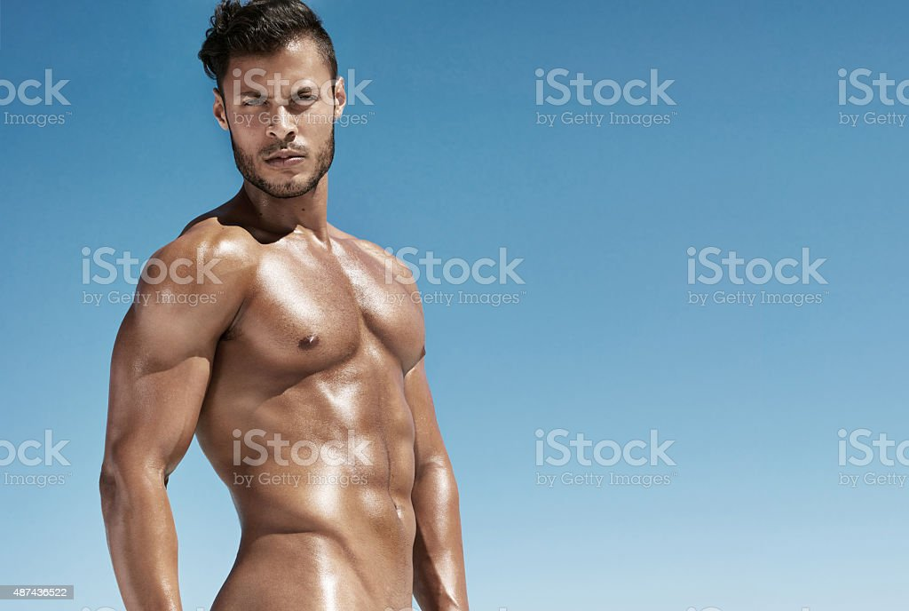 All I packed this vacation was a hot summer body stock photo