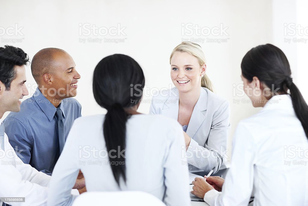 All ideas are welcome here - Collaboration royalty-free stock photo