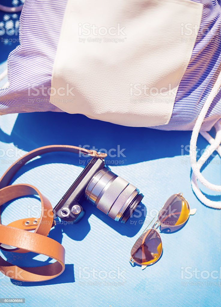 All in blue stock photo