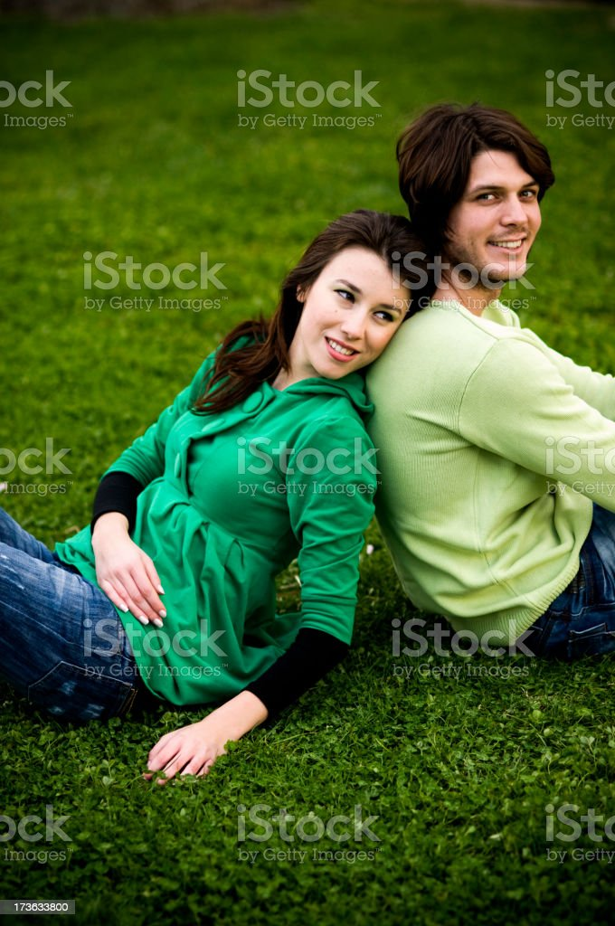 All in Green Went My Love Riding royalty-free stock photo