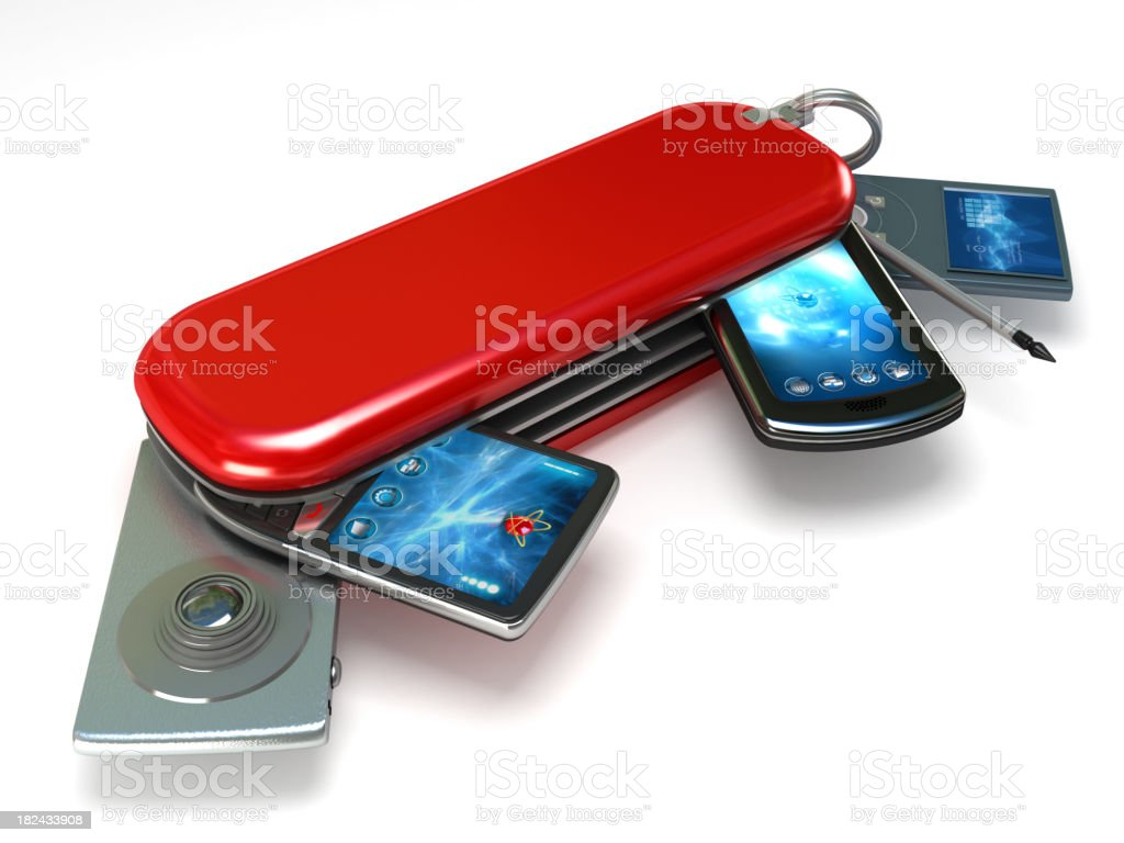 All in one electronic equipment stock photo
