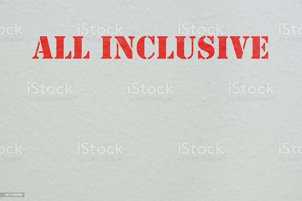 All inclusive stock photo