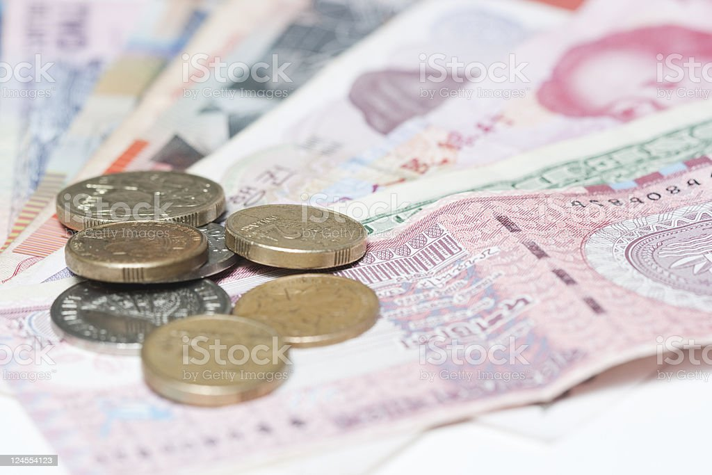 all kinds of money royalty-free stock photo