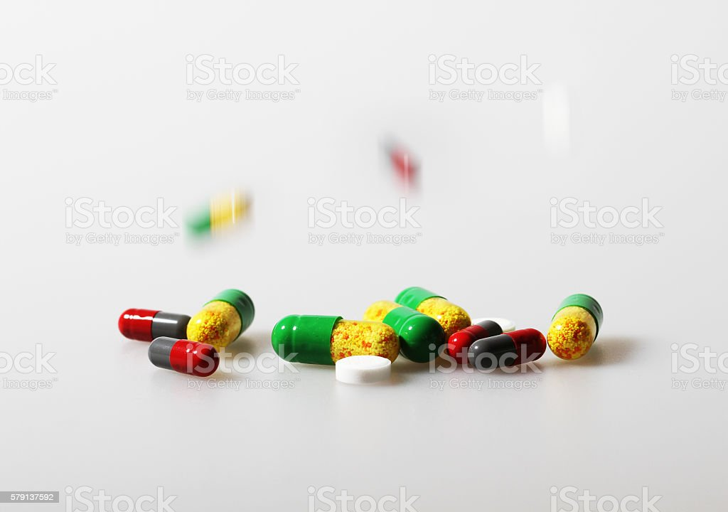 All kinds of tablets stock photo