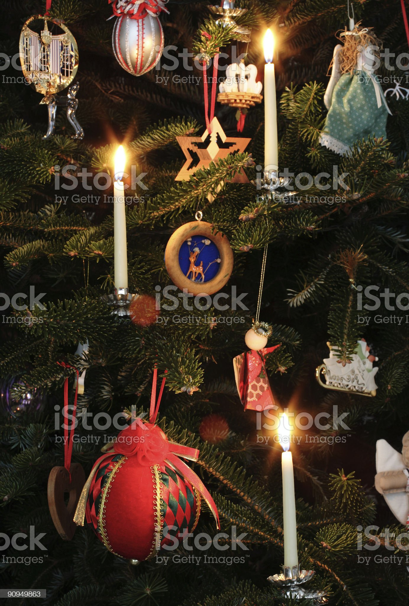 All lit up for Christmas royalty-free stock photo