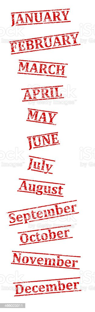 All Months royalty-free stock photo