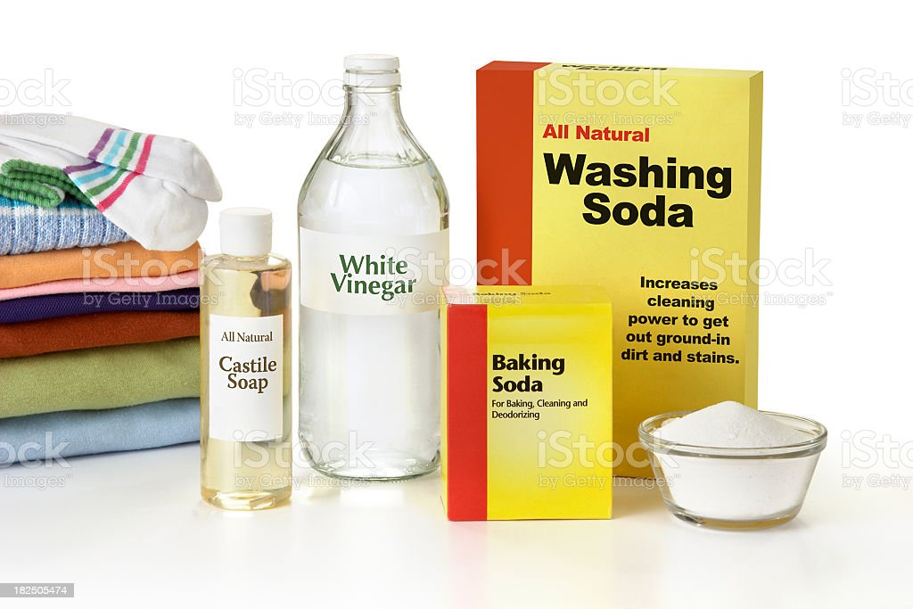 All Natural Laundry Detergent stock photo