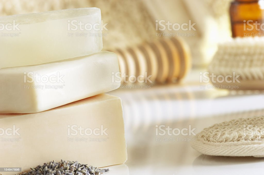All Natural Soaps stock photo