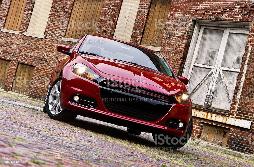 All new 2013 Dodge Dart in Brick Alley stock photo