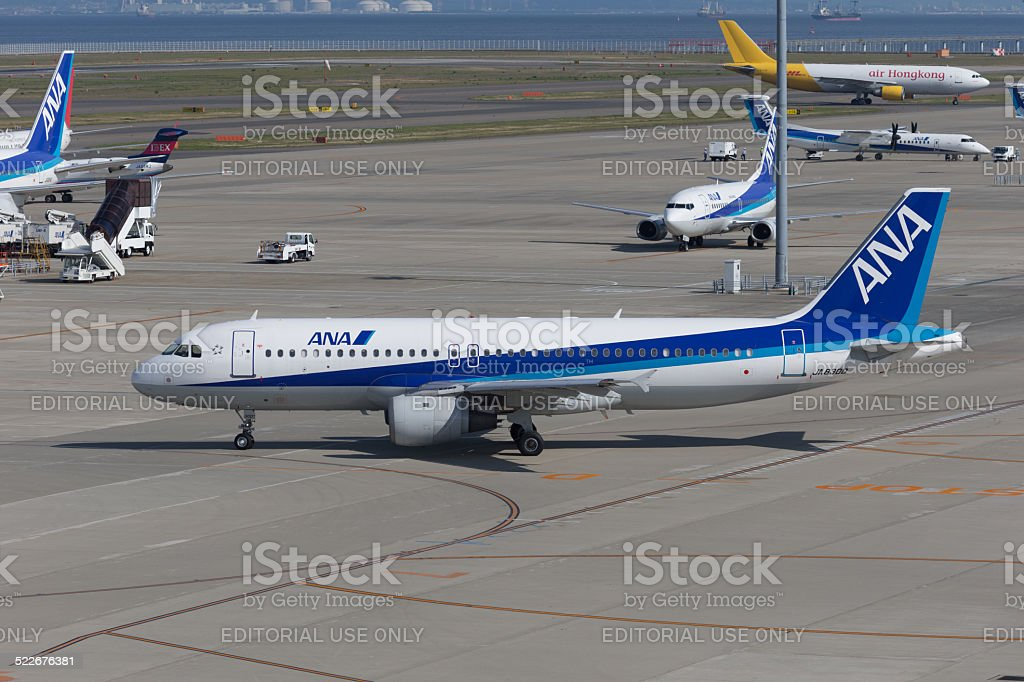 All Nippon Airways Airbus A320 stock photo