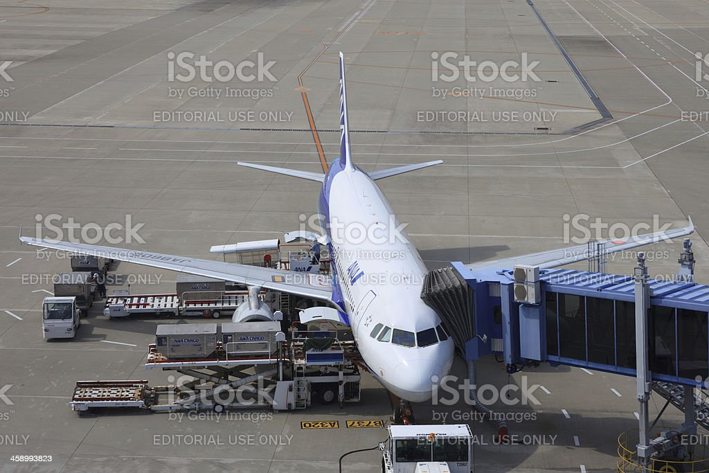 All Nippon Airways Airbus A320-200 stock photo
