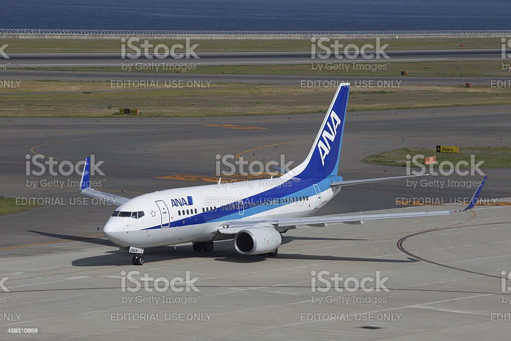 All Nippon Airways Boeing 737-700 stock photo