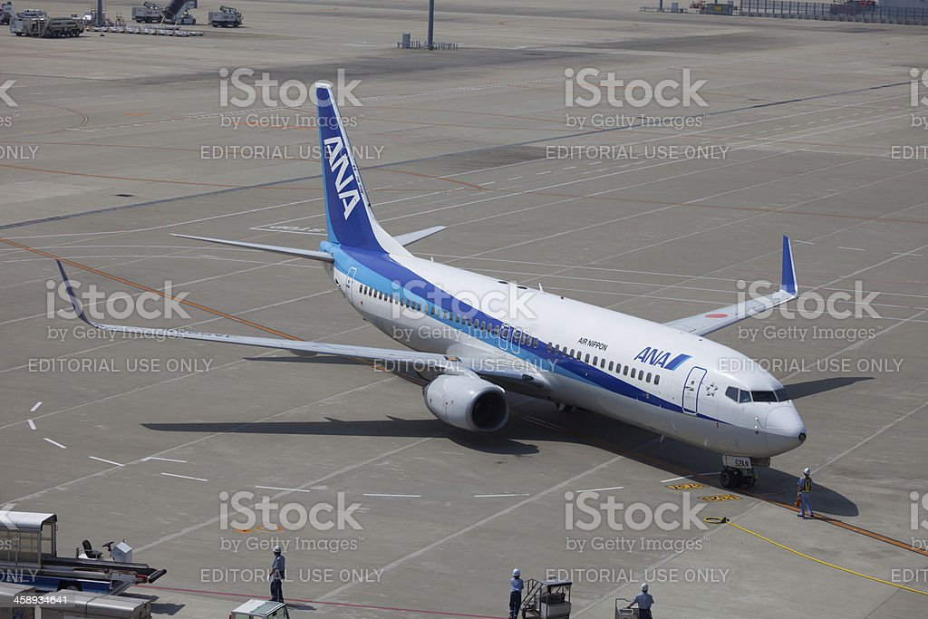 All Nippon Airways Boeing 737-800 royalty-free stock photo