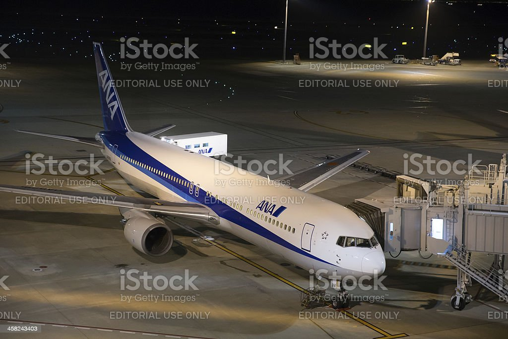 All Nippon Airways Boeing 767 stock photo