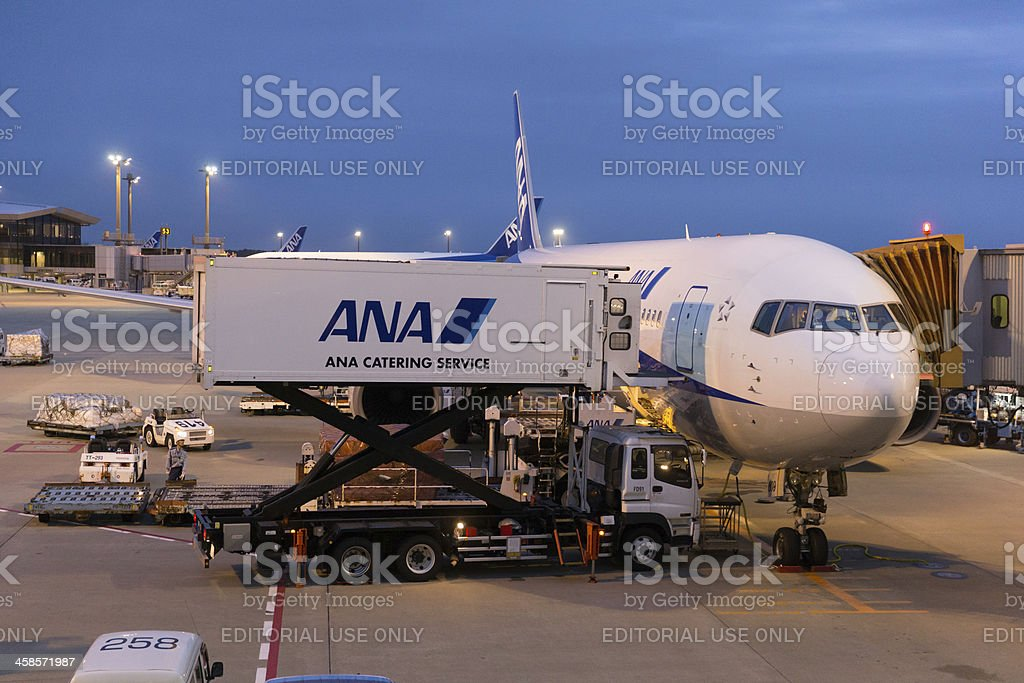 All Nippon Airways Boeing 767 royalty-free stock photo