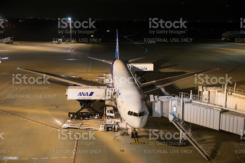 All Nippon Airways Boeing 777-200 royalty-free stock photo