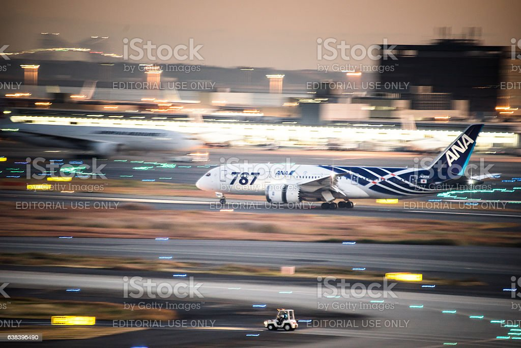 All Nippon Airways Boeing 787 Dreamliner stock photo