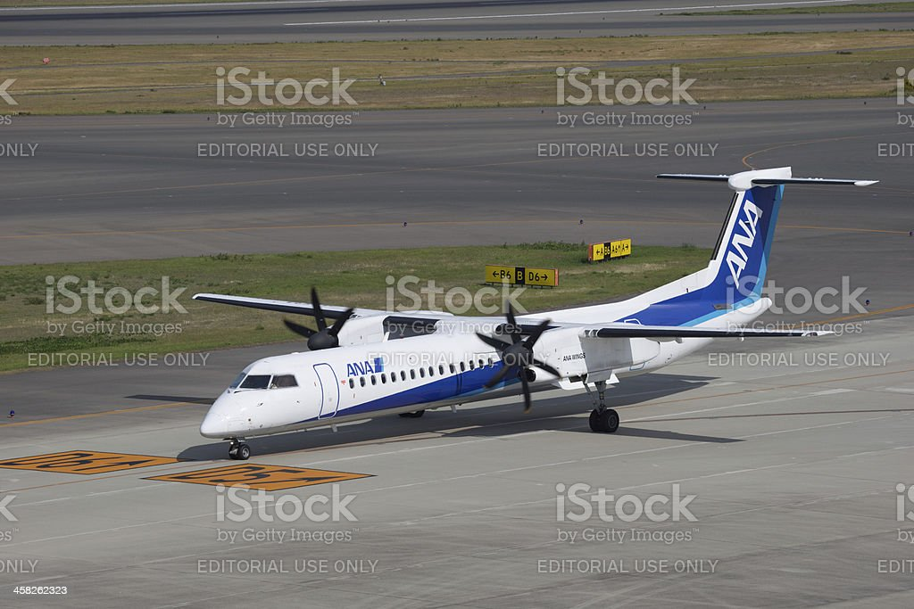 All Nippon Airways Boeing Bombardier Dash 8 Q400 stock photo